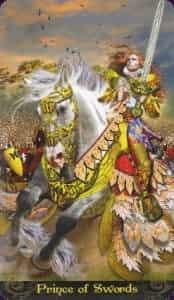 Tarot Illuminati Prince (Knight) of Swords