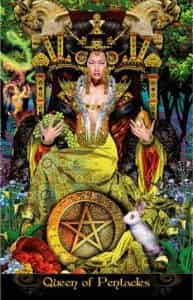 Queen of Pentacles in Tarot Illuminati