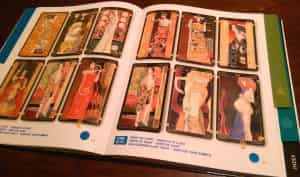 Tarot Gallery Klimt Tarot with actual card glued to the page