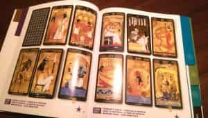 One of the Egyptian decks in Tarot Gallery, Nefertari Tarot. A beautiful deck and one of the examples that has an actual card for the 7 of Swords.