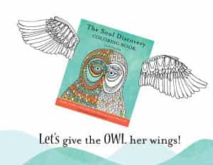 Soul Discovery Coloring Book wings