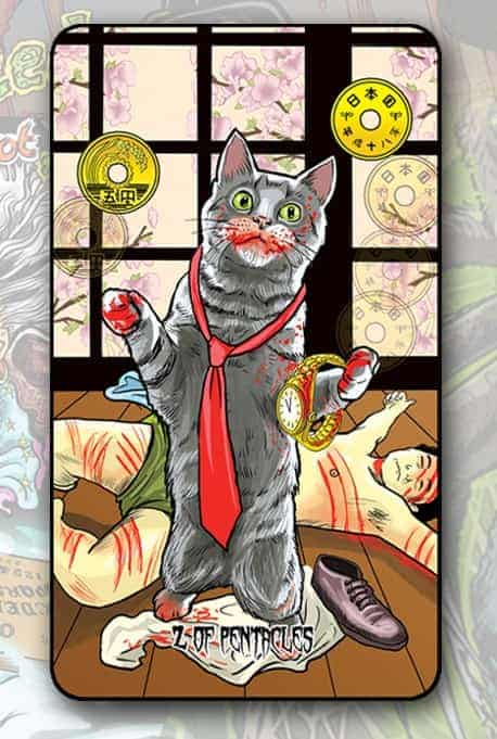 Twisted Tarot Tales 2 of pentacles
