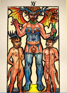 The Devil of the New Choice Tarot