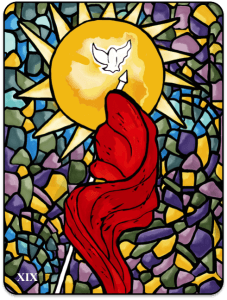The Sun card for the Nightscape Tarot