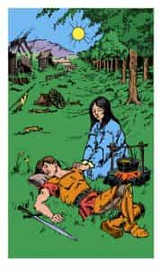 The Healer. One of the new cards in the Evolutionary Journey Tarot. You can see its symbolism isn't hard to recognize.