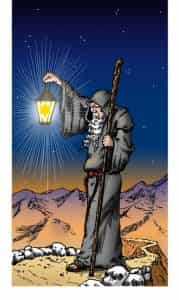 The Hermit. One of the new cards in the Evolutionary Journey Tarot. This card changed to 7.