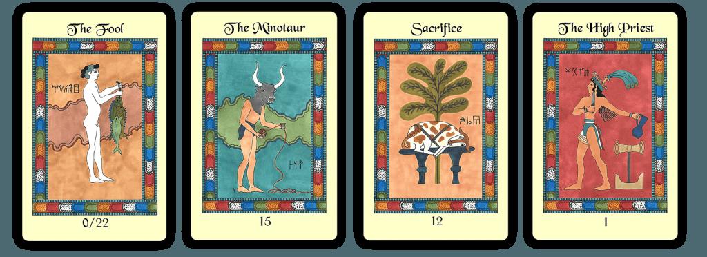 Several Majors of The Minoan Tarot