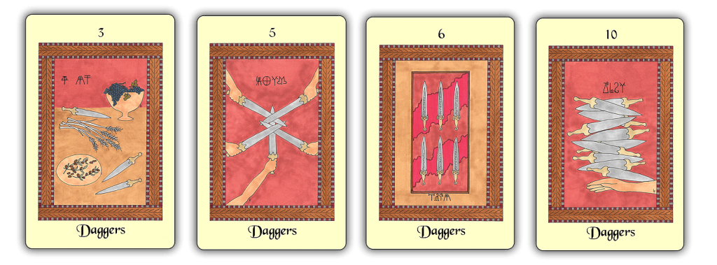 The Minoan Tarot swords, or daggers in this case.