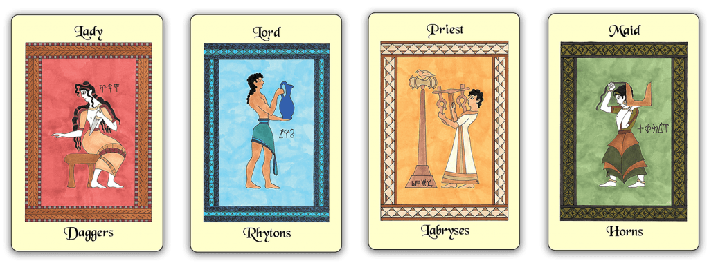 The Minoan Tarot courts