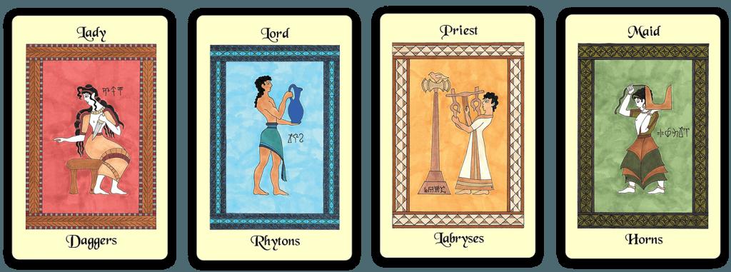 The Minoan Tarot courts