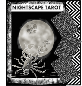 This Nightscape Tarot image includes the Moon card.