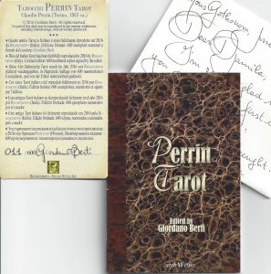 Perrin Tarot LWB, warranty card and note