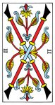 Two of Wands Tarot de Marseille