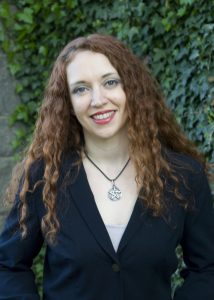 Courtney Weber, author of Tarot for one, the art of reading for yourself. Weber is Wiccan Priestess, writer, Tarot Adviser, and metaphysical teacher living in New York City. [picture from her own website]