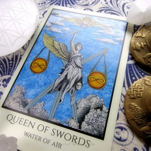 MM Meleen deconstructed the Queen of Disk in the Tabula Mundi Colores Arcus for you. Can you do the same for the mighty Queen of Swords now that you know how these cards are linked? Companion Liber M or the Decan Expansion pack both can help you further along.