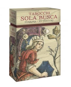 The first two titles in the Anima Antiqua line. An unknown tarocchino from Bologna, called Mitelli, and the deck that is perhaps one of the most famous of the 'oldies': the Sola Busca. The oldest surviving *complete* tarot deck.