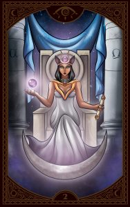 The Queen's Sword Gypsy Tarot High Priestess