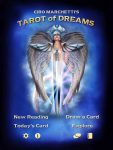 The Fool's Dog has many apps of popular decks, like this Tarot of Dreams.