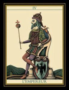 L'empereur Le Tarot Noir