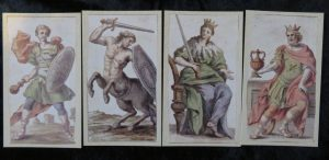 Minchiate Fiorentine Etruria Review. The Queen's Sword Court cards