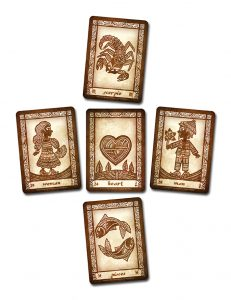 Refreshing your memory: the Zodiac Oracles can be used together with your (Anino) Lenormand to show character traits of that new man or woman in your life.