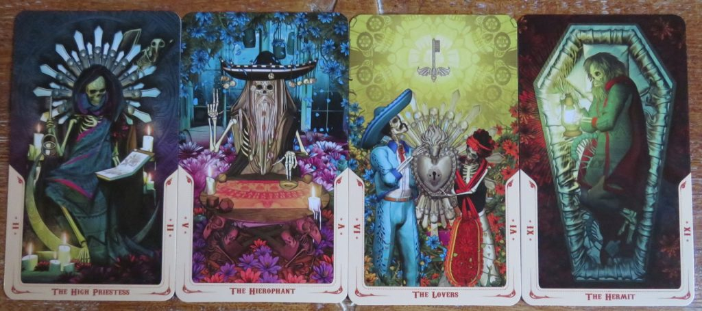 A few of my favourite Majors of the Santa Muerte Tarot. The Queen's Sword Review