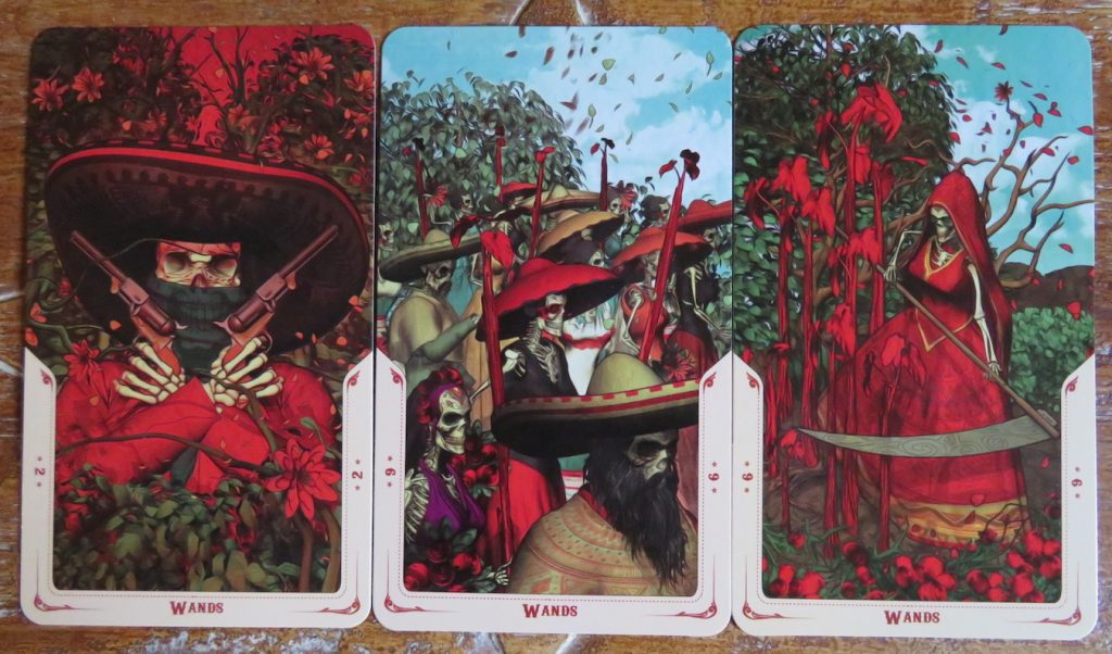 Santa Muerte Tarot Minors: a few examples of the Wands The Queen's Sword Review.