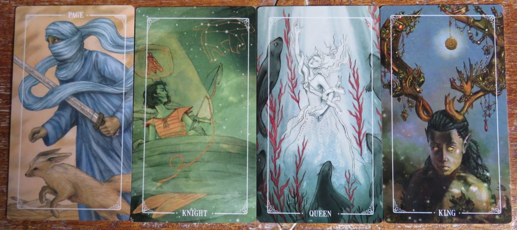Ostara Tarot Review The Queen's Sword Court cards