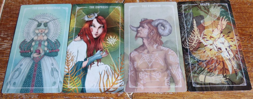 Ostara Tarot Review The Queen's Sword Major Arcana