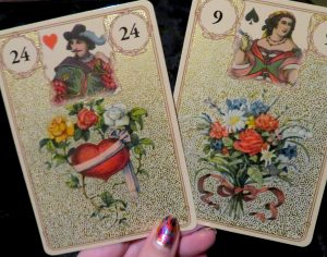 Golden Lenormand bouquet heart big review The Queen's Sword