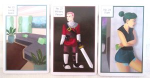 The Card Geek's Kipper Cards deck review The Queen's sword
