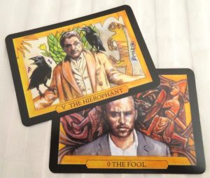 American Gods Tarot Majors Only review + interview The Queen's Sword