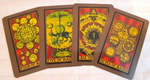 Alchemystic Woodcut Tarot Review The Queen's Sword