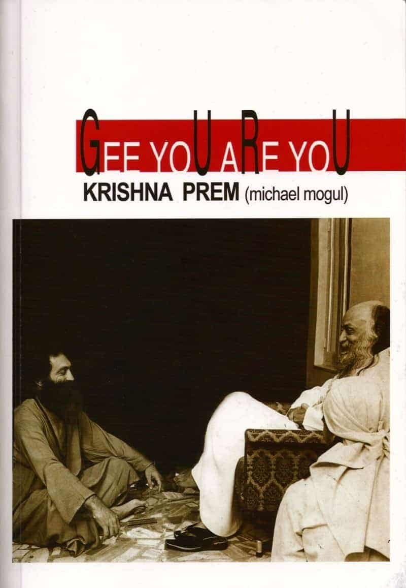 Cover Gee You Are You, showing Krishna Prem and Osho together