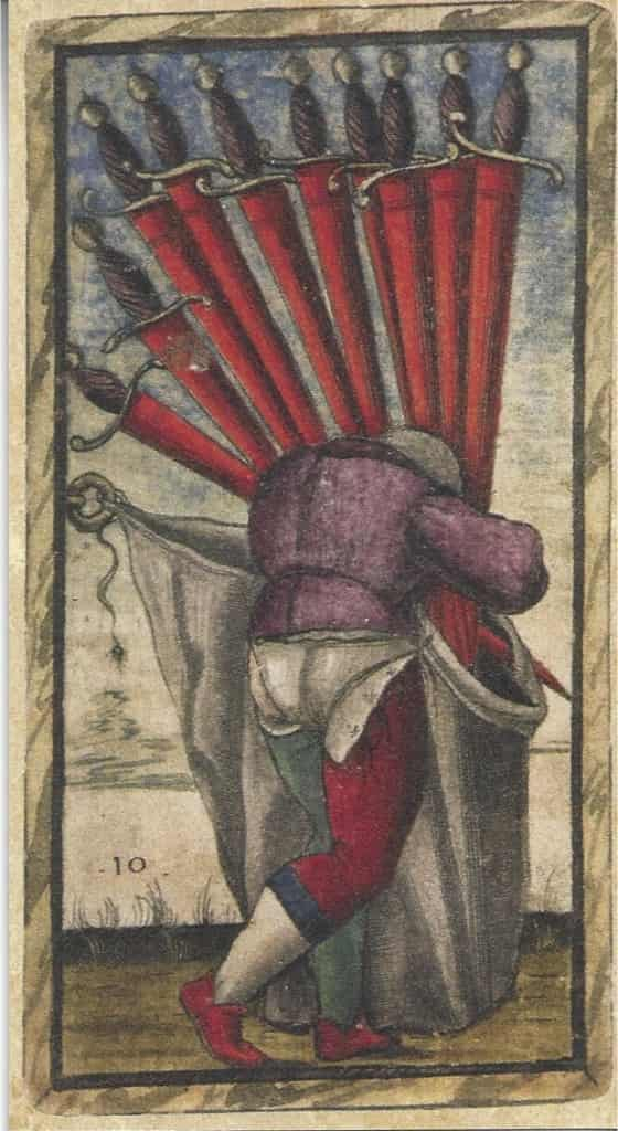10 of Swords Sola-Busca