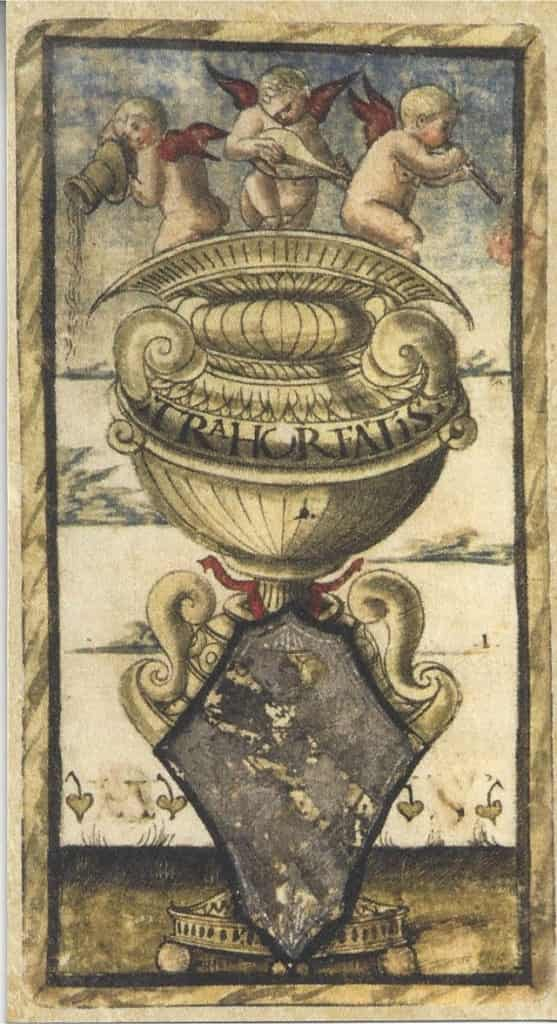 Sola Busca Ace of Cups