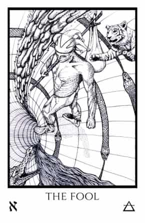 Fool-Tabula-Mundi-Tarot-black-white
