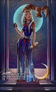 Filligree tarot High Priestess